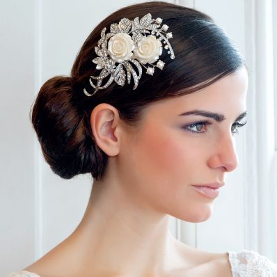 Bridal Hairstyle With Rose : 60 best wedding hairstyles images on pinterest