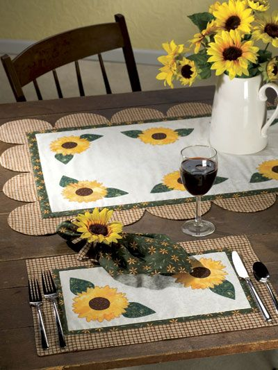 Sewing - Kitchen Patterns - Sassy Sunflowers