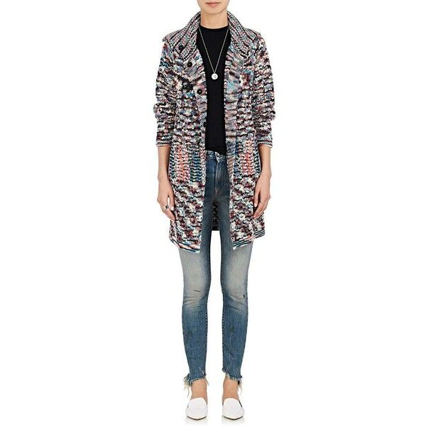 Missoni Women's Mixed-Knit Cashmere Cardigan ($4,490) ❤ liked on Polyvore featuring tops, cardigans, long sleeve tops, multi colored cardigan, missoni, cardigan top and multi color tops