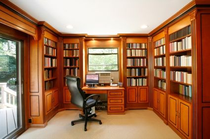 office bookshelves   home office with bookshelves lining the walls   House:  ideas, plans, Etc...   Pinterest   Shelves, Home and The o'jays - Office Bookshelves Home Office With Bookshelves Lining The Walls