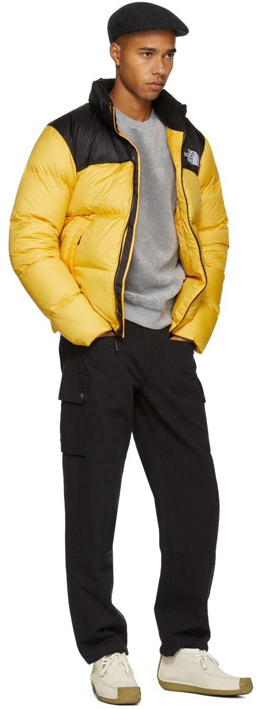 The North Face - Yellow & Black Down Novelty Nuptse Jacket