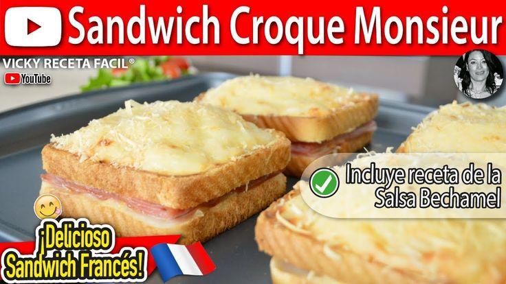 Cómo hacer SANDWICH CROQUE MONSIEUR | Vicky Receta Facil