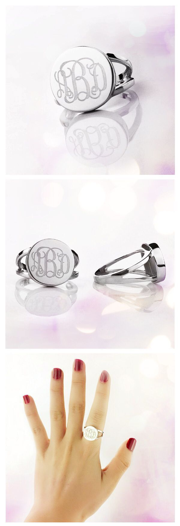 Our initial rings are exquisite, and will make you feel ready for any occasion! Don't have a monogram ring in your jewelry box? A engraved monogram Ring is just what you need to complete your collection.Come and discover more at Getnamenecklace.com