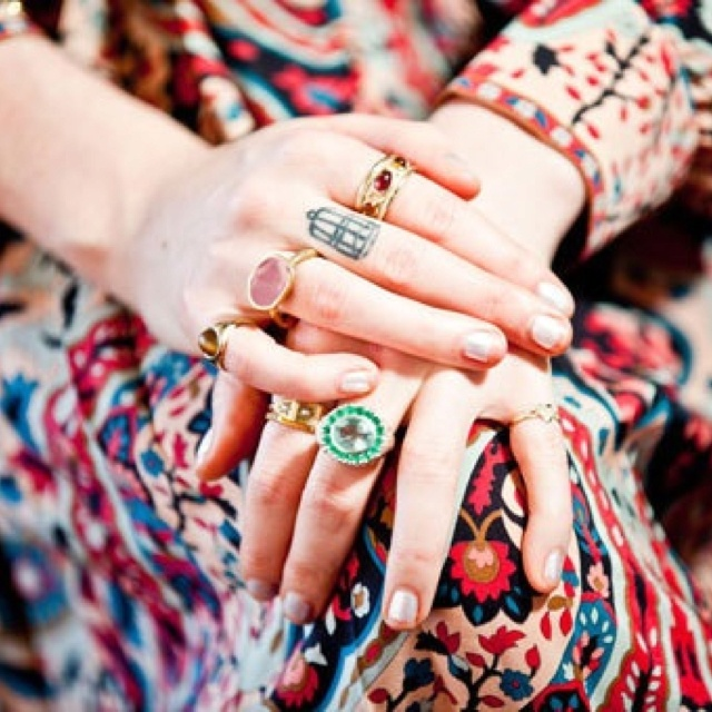 Florence Welch's hands. I have a similar ring collection, the only thing missing is a tattoo.