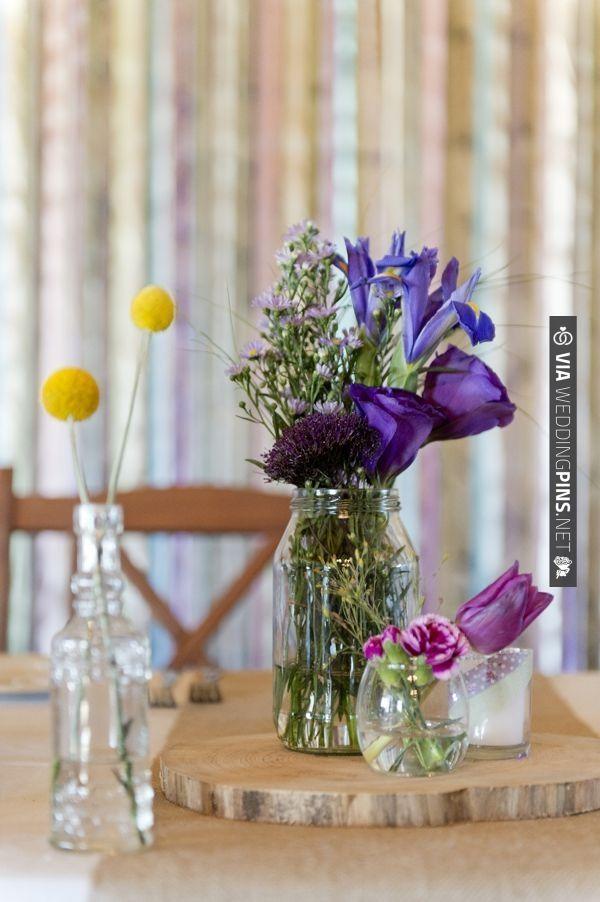 pretty purple floral arrangements   CHECK OUT MORE IDEAS AT WEDDINGPINS.NET   #weddings #weddingflowers #flowers