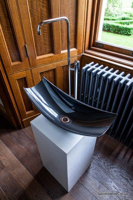 Carbon fibre bathroom basin
