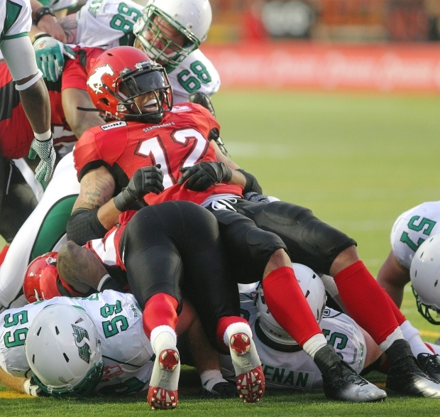 Game Stats for Calgary Stampeders win over Saskatchewan Roughriders at McMahon Stadium on Thursday, July 19, 2012.