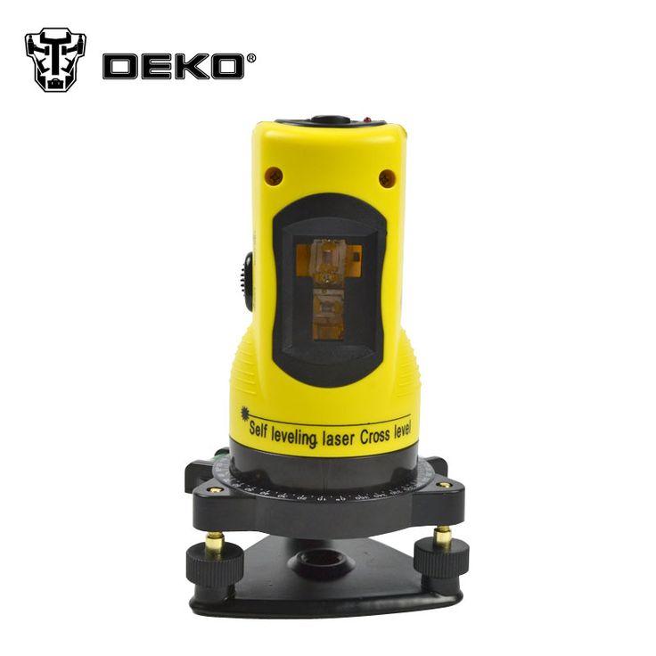 DEKO Nuevo Profesional 2 líneas de nivel láser 360 rotatorio línea láser en cruz de nivelación se puede utilizar con el receptor al aire libre