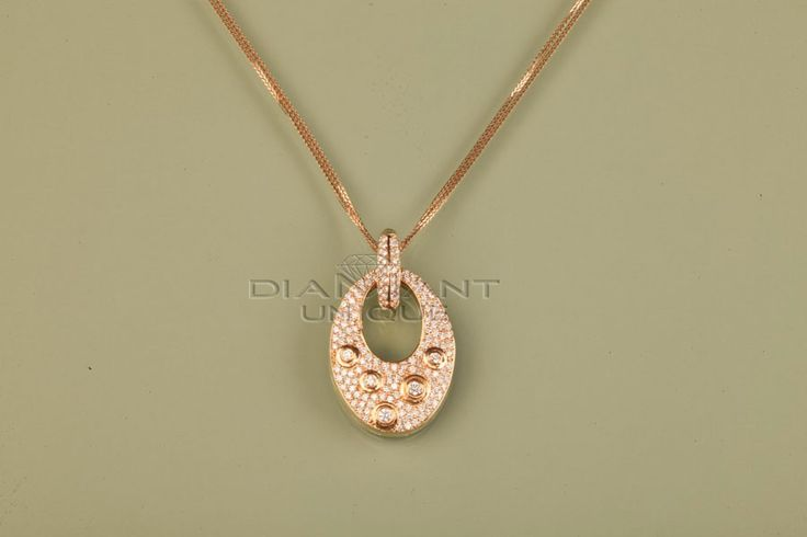 Pendentif Broche en Diamant