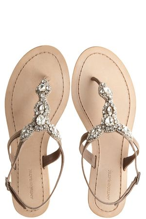 Akan Natural Rhinestone Thong Sandal :: SHOES :: ACCESSORIES :: Calypso St. Barth....I soooooo want these little jeweled sandals :)