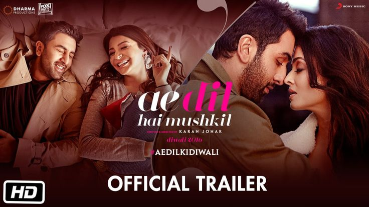 Watch Ae Dil Hai Mushkil (ADHM) Movie 2016 Full Official HD Trailer Video