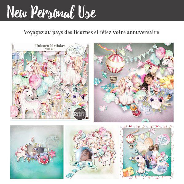 nouveau kit anniversaire de licornes!!!