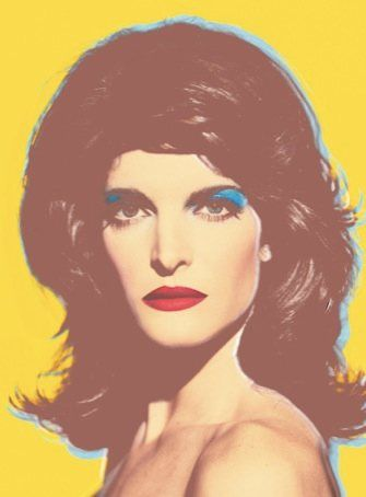 Stephanie Seymour in the style of Andy Warhol for Harper's 2002