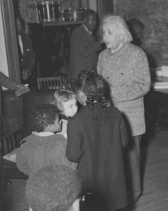 """In 1946,Albert Einstein traveled to Lincoln University in Pennsylvania, the alma mater of Langston Hughes and Thurgood Marshall and the first school in America to grant college degrees to blacks. At Lincoln, Einstein gave a speech in which he called racism """"a disease of white people,"""" and added, """"I do not intend to be quiet about it."""" He also received an honorary degree and gave a lecture on relativity to Lincoln students."""
