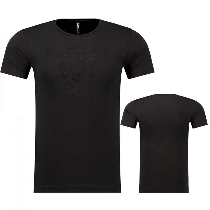 Heren Doodshoofd Print Zwarte T-Shirt