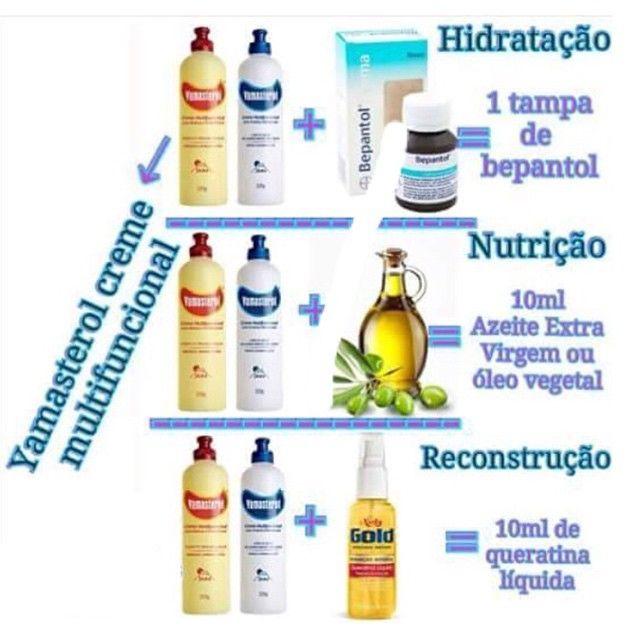 ✅ Hidratação, Nutrição e Reconstrução com Yamasterol #sos_cabelosecia #yamasterol #hidratação #nut - sos_cabelosecia