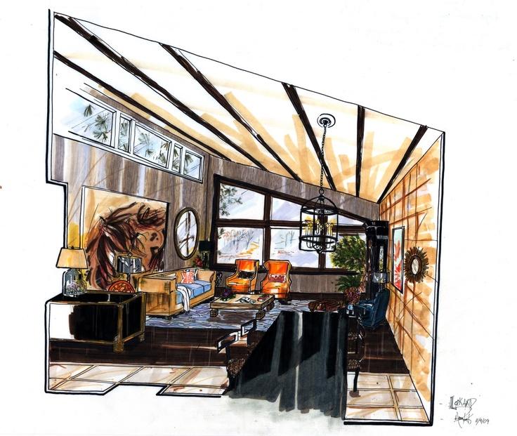 Interior Designer Sketches 23 best interior design sketches images on pinterest | interior