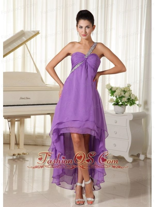 10 best 2013 Straps High-low Purple Prom Dress images on Pinterest ...