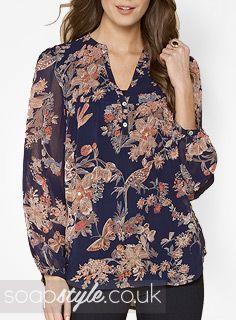 EastEnders Jane Beale // Laurie Brett // Jane's Oriental Print Tunic Top - April '14 [ Click photo for details ❤ ]