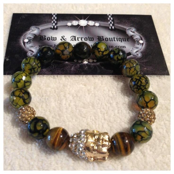 $75 Green Stone Buddha Bracelet