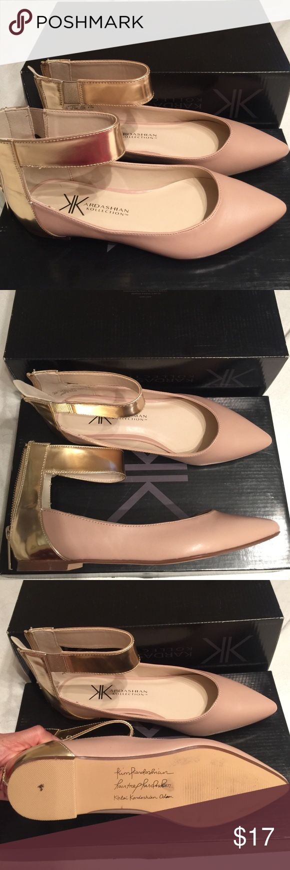 Kardashian Kollection Flats Worn once. In great condition. Kardashian Kollection Shoes Flats & Loafers