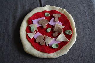 Pizza feutrine pour mini cuisine