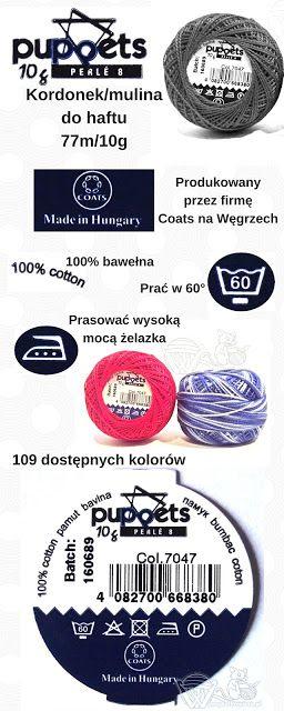Wyszydelkowana.pl - o szydełkowaniu i nie tylko: Puppets Perle 8 - Przygoda z Coats #1