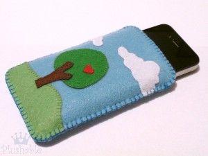 Felt iPhone case Nature in love
