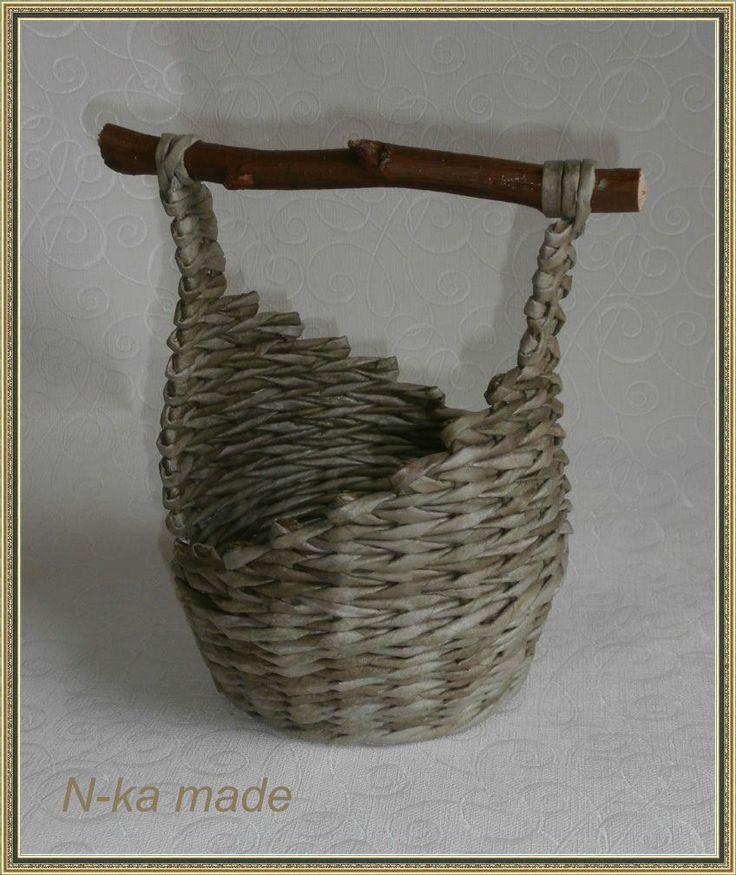 Бумажная лоза. Плетение