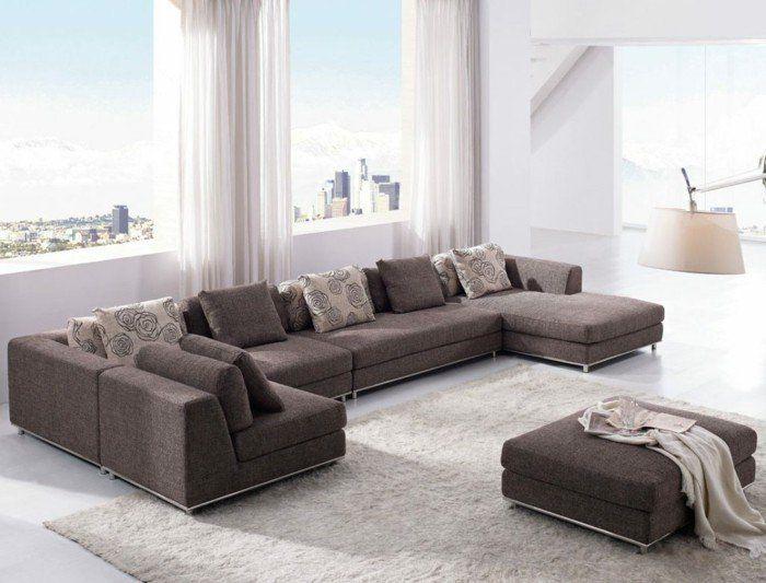 Sofa modern stoff grau  28 besten Wohnen - Sofa Bilder auf Pinterest | Couches, Kaufen und ...