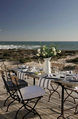 Beautiful view of the ocean ~ dreamy place to dine