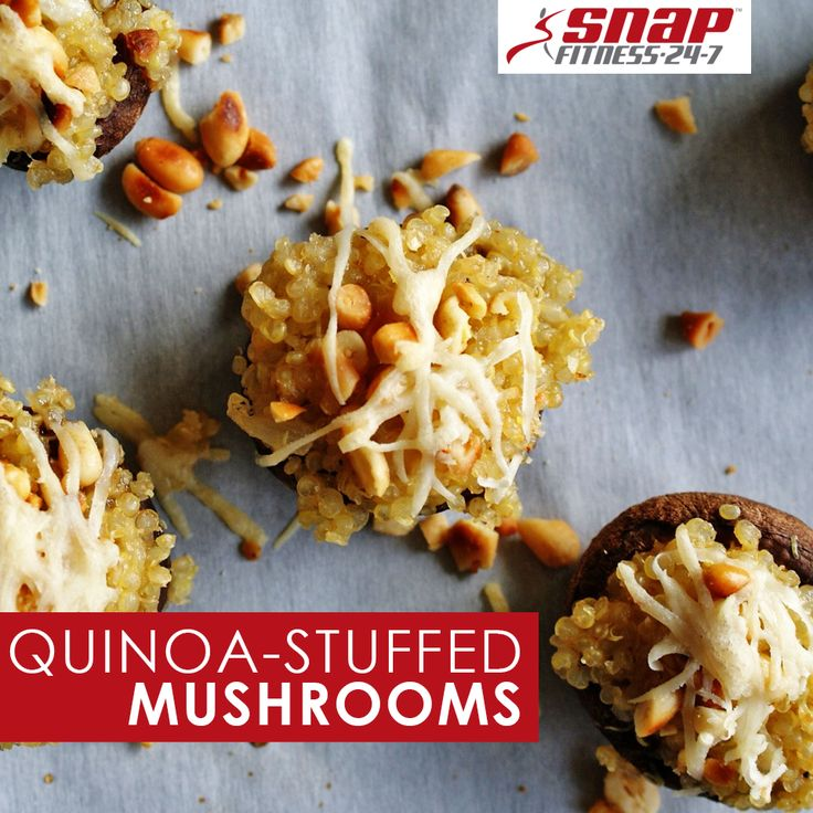 These light stuffed mushrooms are gluten-free, whole-grain, and guilt ...