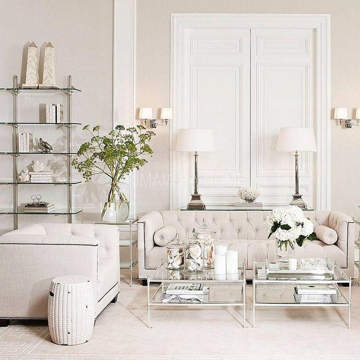 PAOLA SOFA kanapa 3 osobowa pikowana w stylu klasycznym, styl glamour, beżowa, szara
