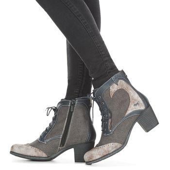 Chaussures Femme Bottines Mustang JAKIE Bleu / Gris
