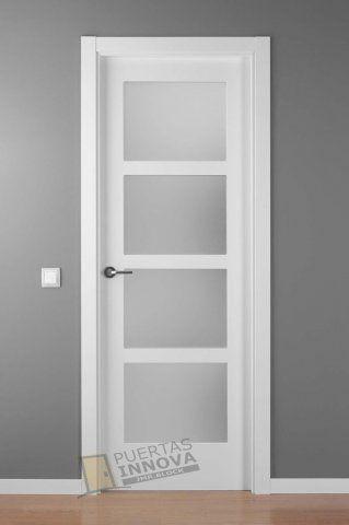 Las 25 mejores ideas sobre puertas blancas en pinterest for Puertas acristaladas interior