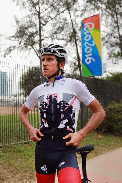 Geraint Thomas prepares for a Team GB training ride 3-8-2016 Rio de Janeiro Getty Images