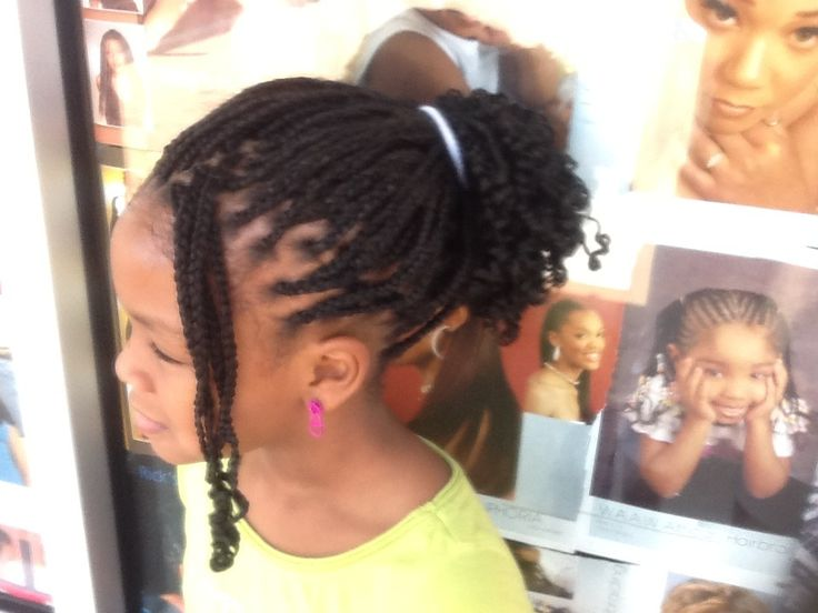 Braid Individual With Extension Plus Curl At The End
