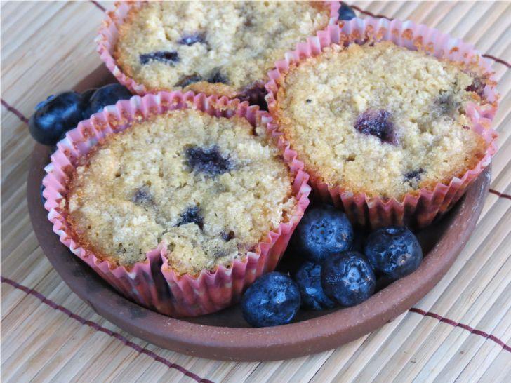 Receta Sin Gluten: Muffin de Quinoa y Arándanos