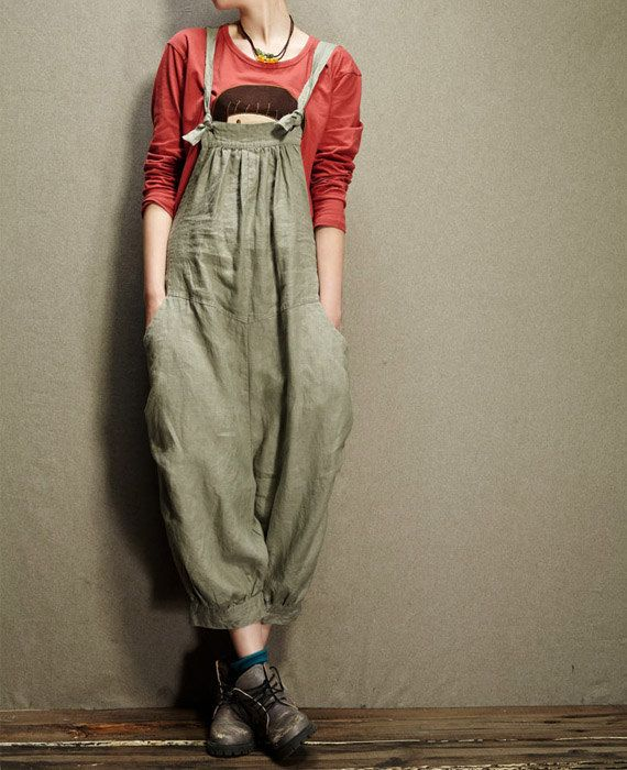 Women Jumpsuits Sexy Jumpsuit Cute Jumpsuit Linen Pants #J01 1