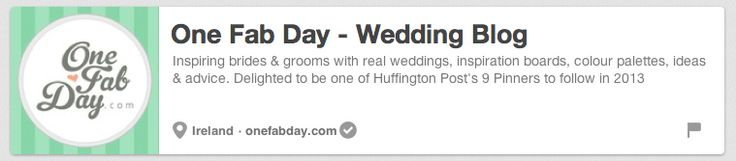 One Fab Day | The 25 Best Pinterest Accounts To Follow When Planning Your Wedding on My Pinterest Wedding http://www.pinterest.com/joannamagrath/my-pinterest-wedding