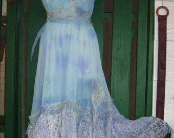 """Vendimia 20% OFF inspiró el vestido de deslizamiento sirena con volantes de encaje. Medio a 40 """"busto"""