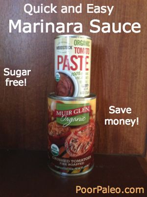 Simple marinara sauce! Want to lose weight and eat Paleo? Follow my weight loss journey!