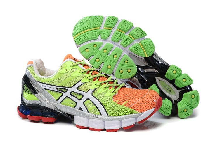 Cheap Cute Asics Gel Kinsei 4 Mens Mosaic Volt Total Crimson Poison Green Running Shoes Sale Online