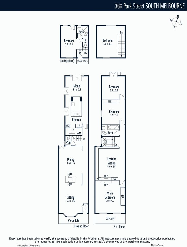 Melbourne terrace house modern floorplan good use of small space