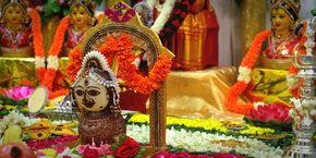 Many unmarried girls observe Mangala Gauri Vrat on every Tuesday of Shravan month, around July-August in order to find a suitable life partner. Women mainly observe this fast for 16 or 20 Tuesdays and this fast is also kept by the married women pray for their husband's well-being. #MangalaGauriVrat #Vrat #LordShiva #GoddessParvati #GoddessGauri