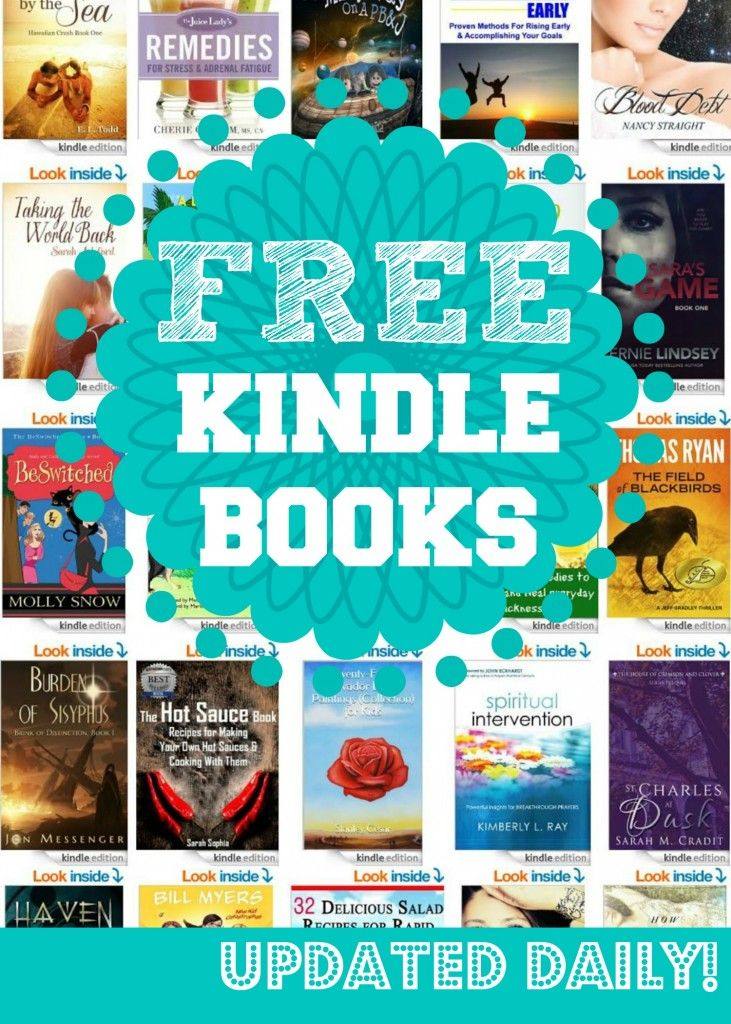 FREE Kindle Books! This page is updated daily with all the best Free Kindle Books available that day, you'll never pay for Kindle Books again! Download each morning and you'll have a library full of reading material!