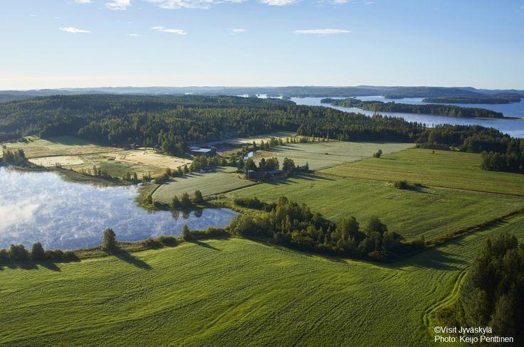 Landscape photo of Iloniemi. ©Visit Jyväskylä Photo: Keijo Penttinen.