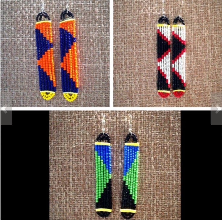 South African beaded earrings