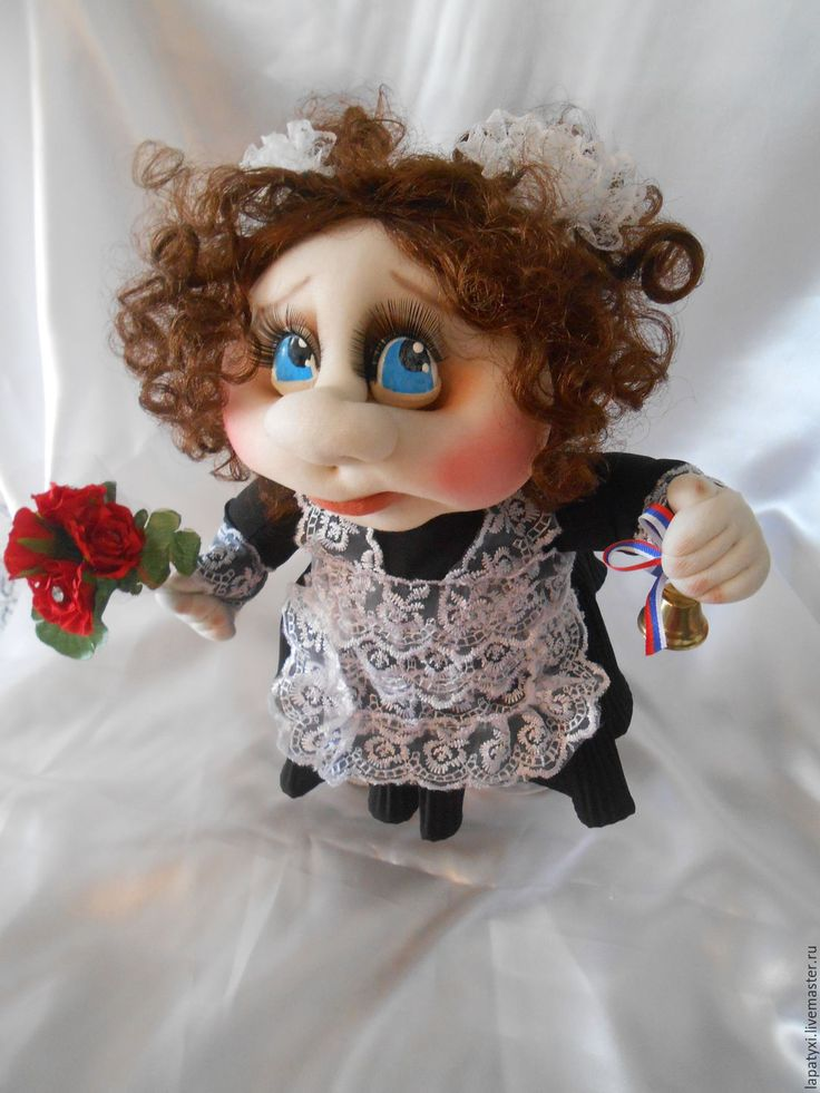 Купить Кукла школьница Наташка - первоклашка! - белый, школьница, школьная форма, кукла, кукла в подарок