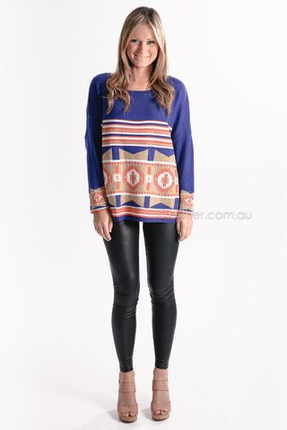 fly with me knit - blue - sale